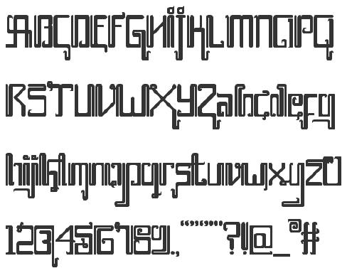 Hebrew Simulation Fonts