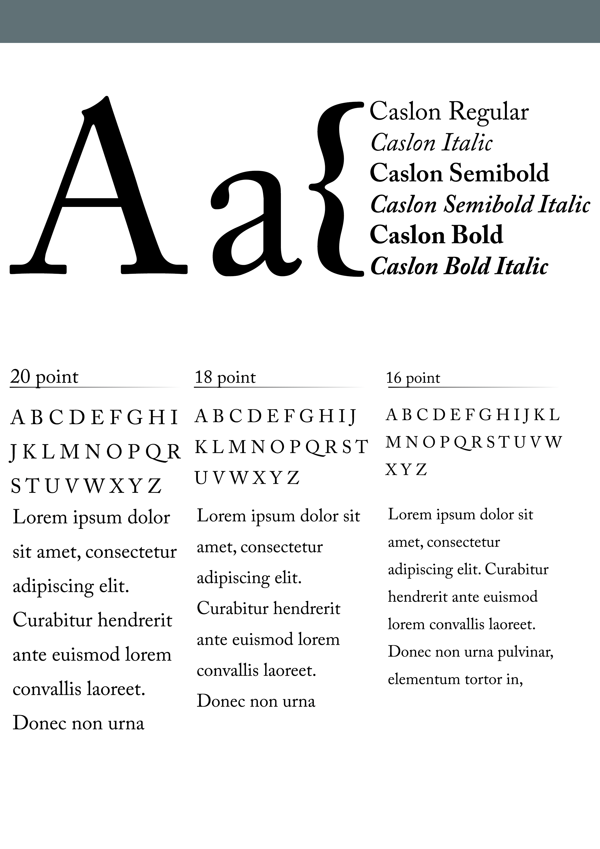 Caslon: Choice