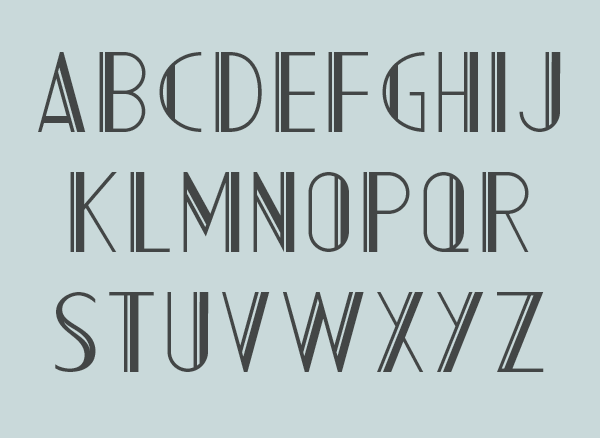 Art Deco Typeface AC Mountain