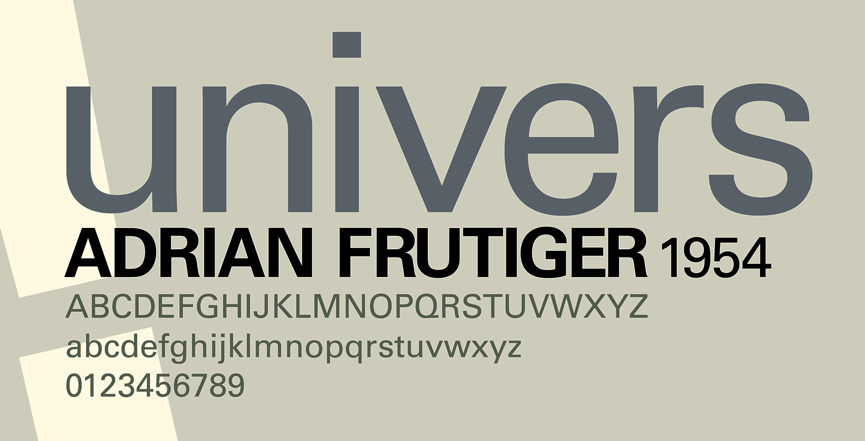 File Name Adrian Frutiger Univers 1956 Poster By Caitlin Gettinger 2014