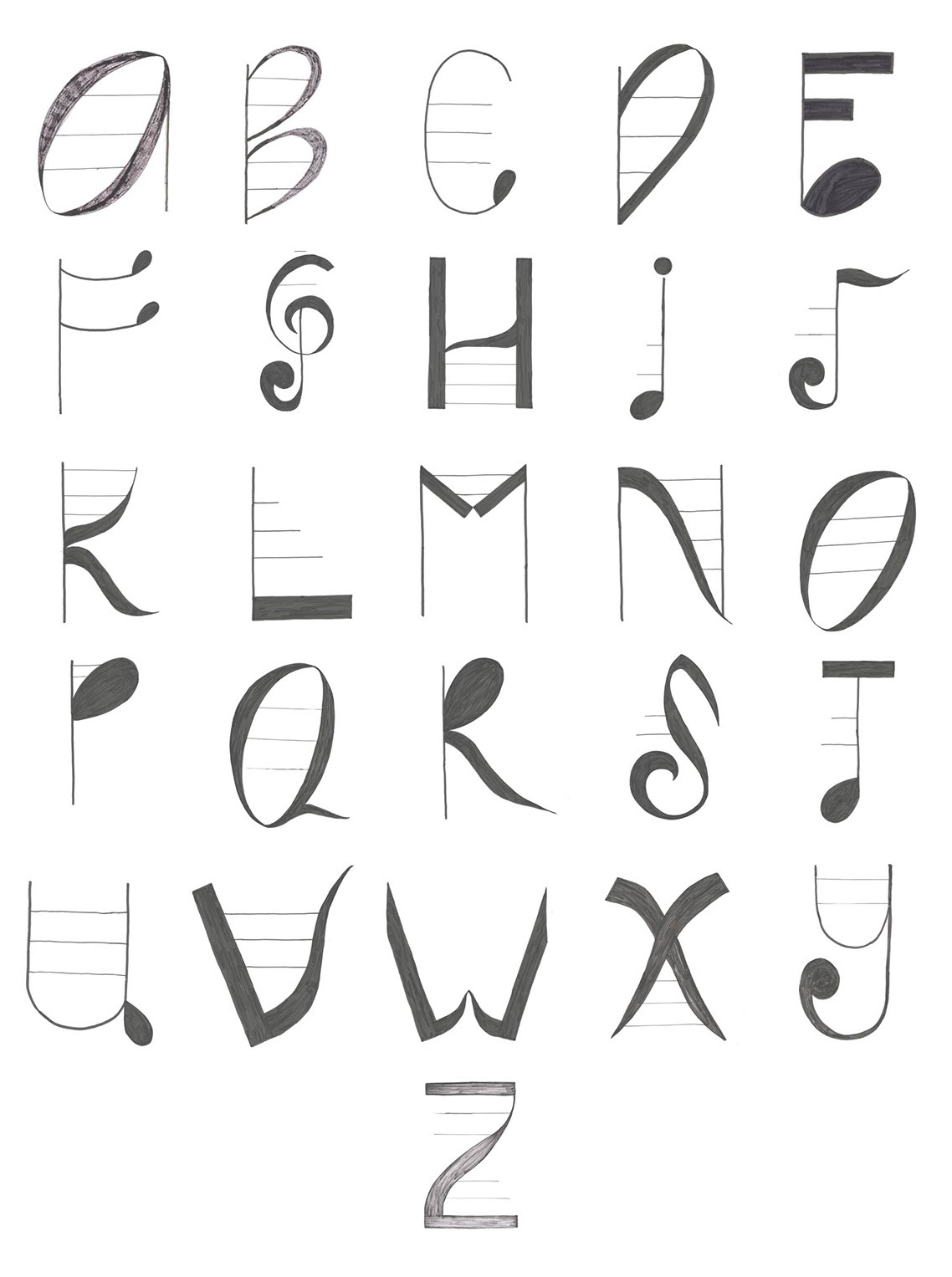 fonts note typeface inspired adrienne weidner luc type file