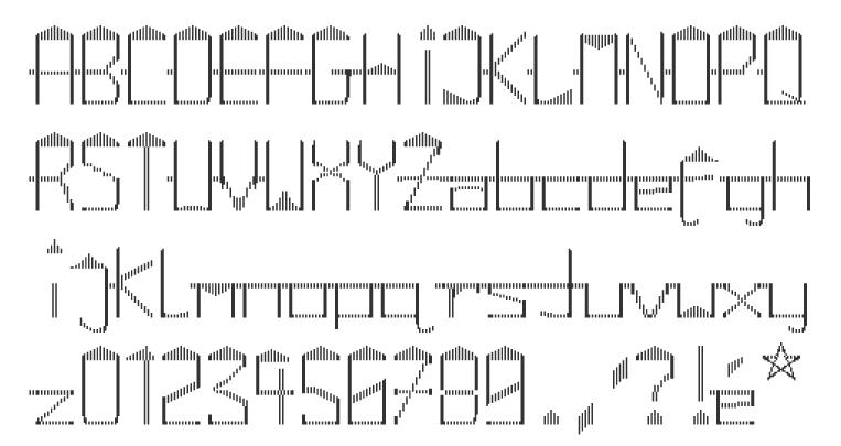 Labyrinthic fonts linoleum 2013 sandor basic stripes 2013 compass norden 2013 a dot matrix font sambuccus 2013 abneuroniques 2013 neurotic typeface m4hsunfo