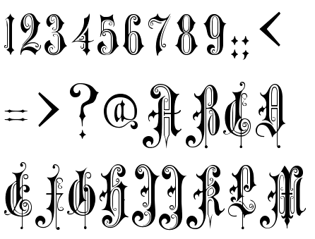 100 Tattoo Number Fonts Diffe Tattoo Fonts Tattoo