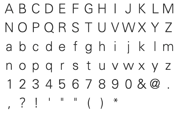 Akzidenz Grotesk and derived typefaces