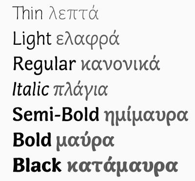 Greek in Many Styles