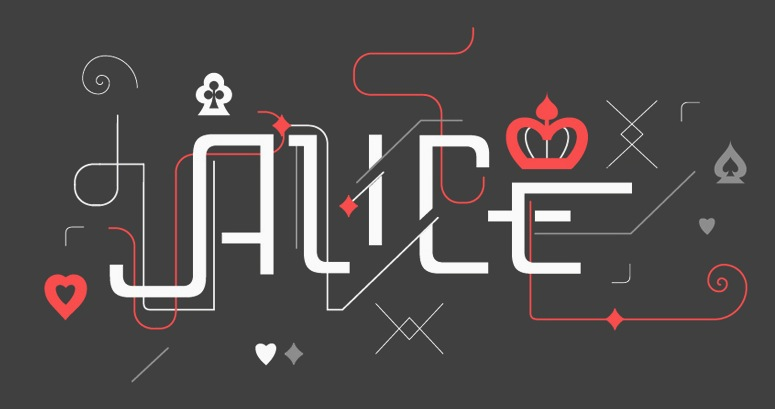 The EPS format display typeface Alice FY ...