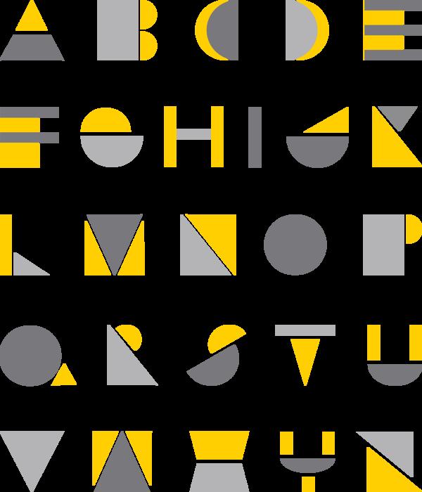 Geometric solid typefaces