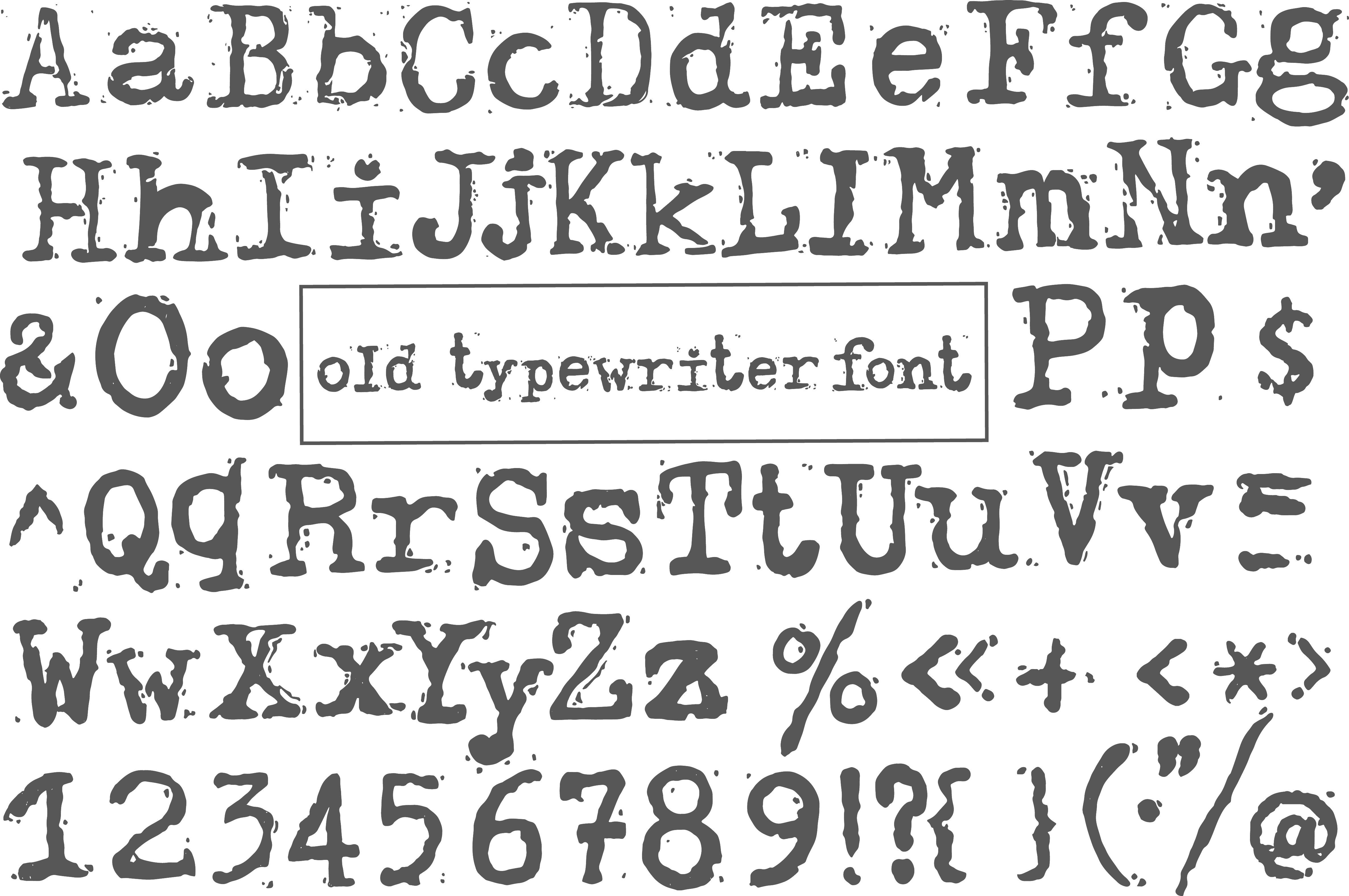Old typewriter font – Älypuhelimen käyttö ulkomailla