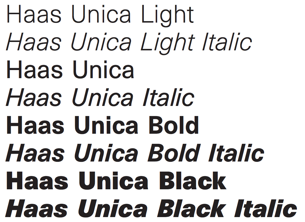 Haas Unica   Typography    Letter Types And Typography