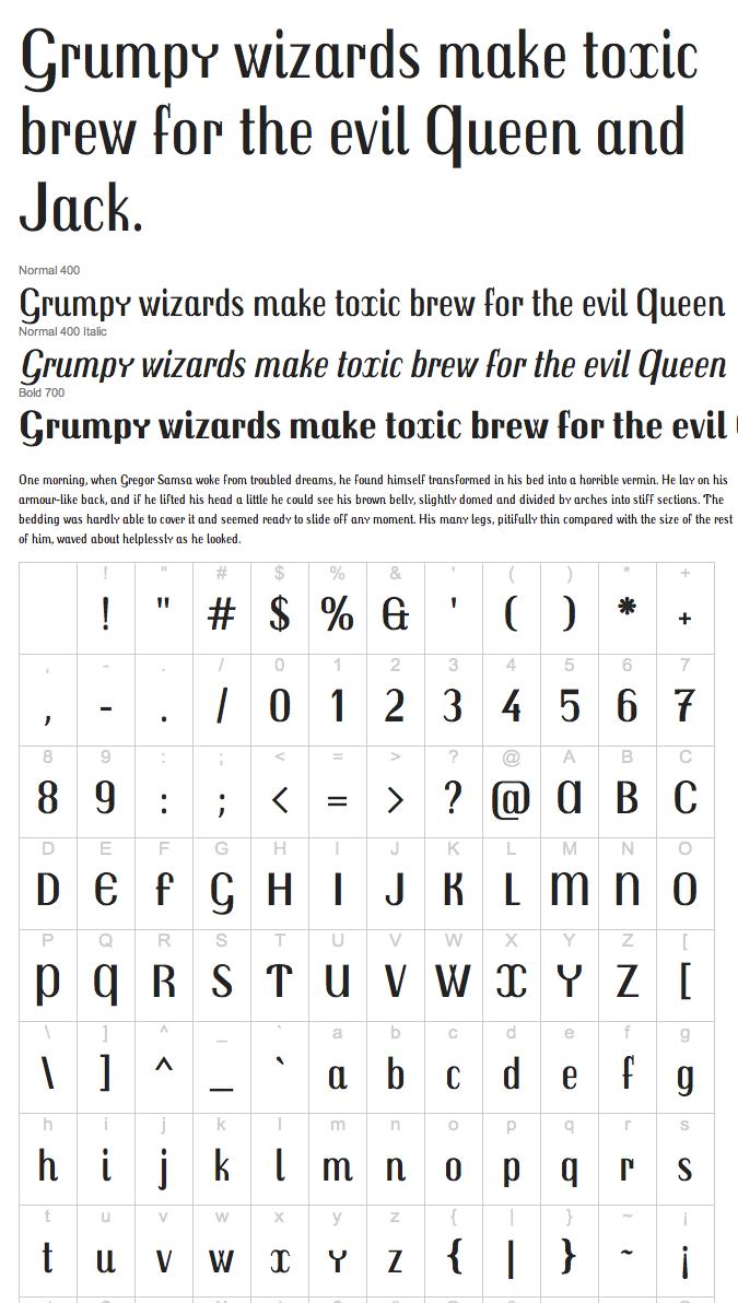 Kafkaesque Typefaces