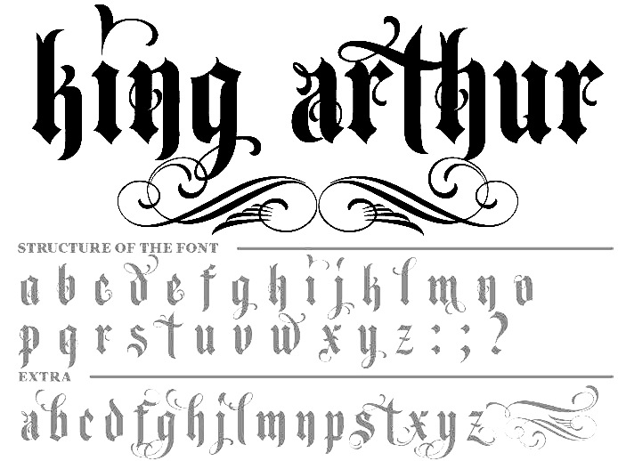 King And Queen Font By Weknow: 28+ [tattoo Font King Queen]