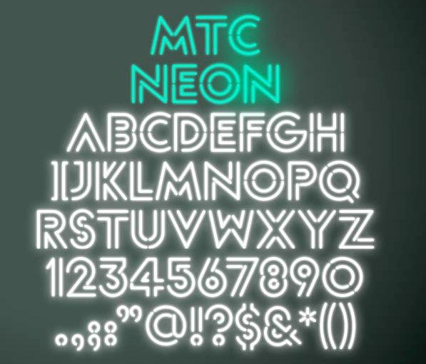 Annforrest mtc 2012g neon sign font called mtc 2012 altavistaventures Image collections