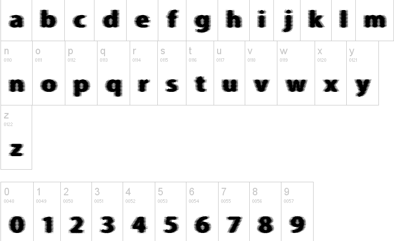 circuit board typefaces