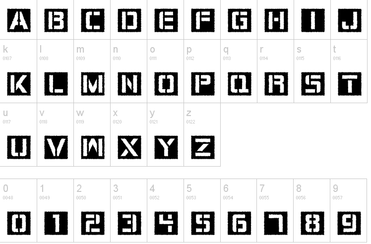 Circuit Board Typefaces
