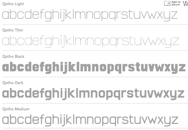 qotho font