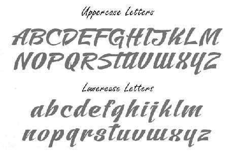 Mustang Fonts