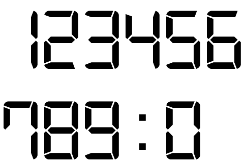 Digital Clock Font Free digital clock font