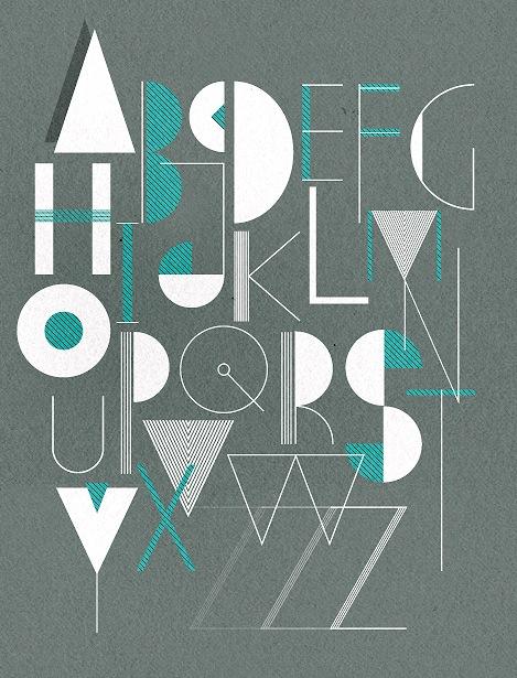 He Made An Art Deco Alphabet Poster