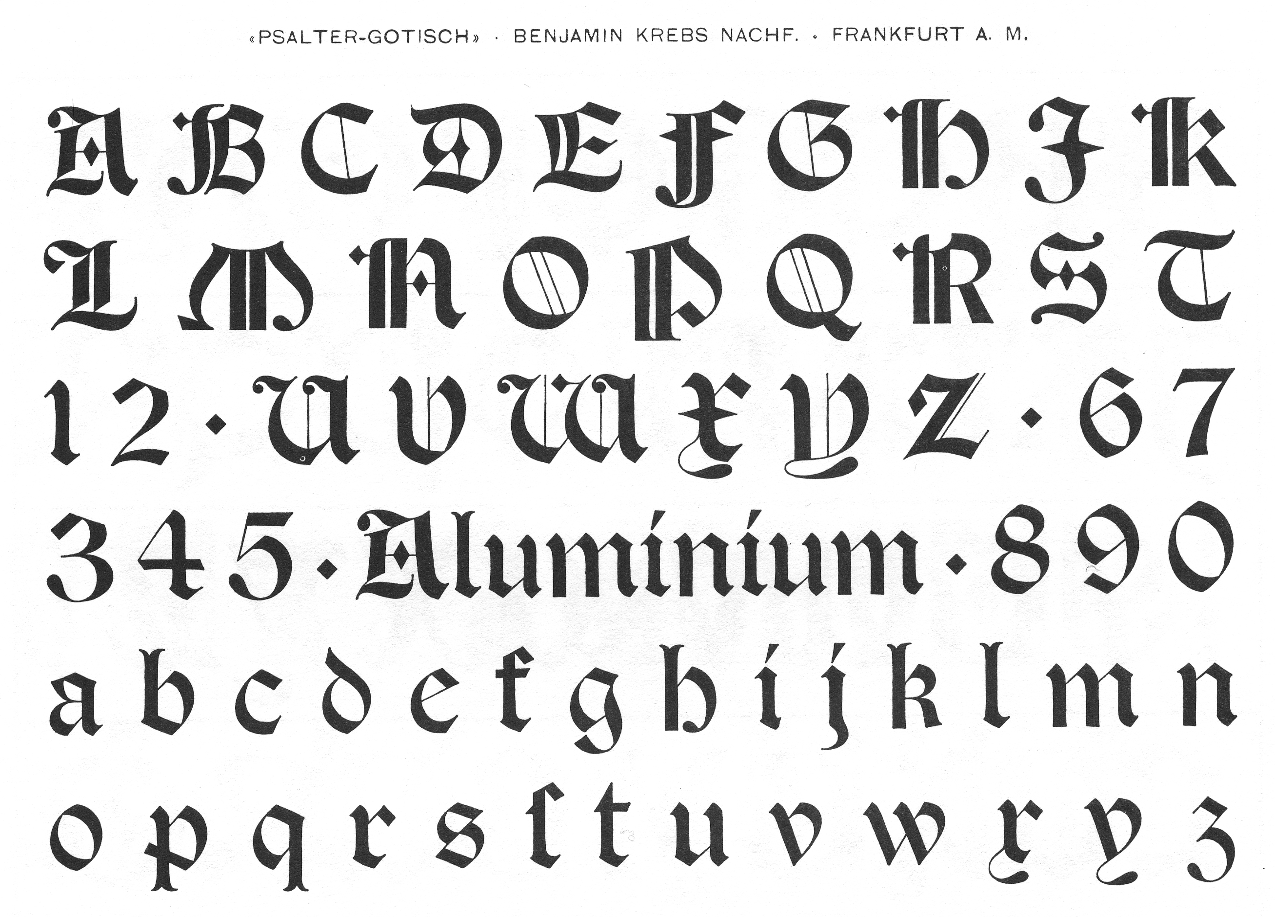 Benjamin Krebs blackletter fonts