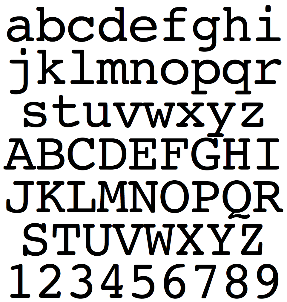 Courier and derived typefaces