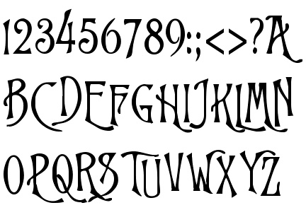 Tim Burton Handwriting Font