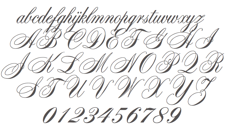 Related Keywords Suggestions For Spencerian Font