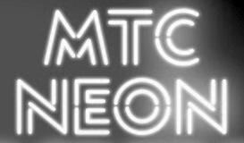 Neon tube or faux neon typefaces