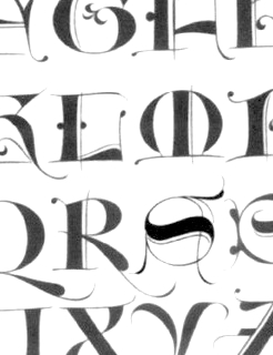 Chancery hand, Cancellaresca, and Typefaces