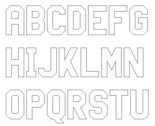Outline Block Font Galleryhipcom The Hippest Galleries