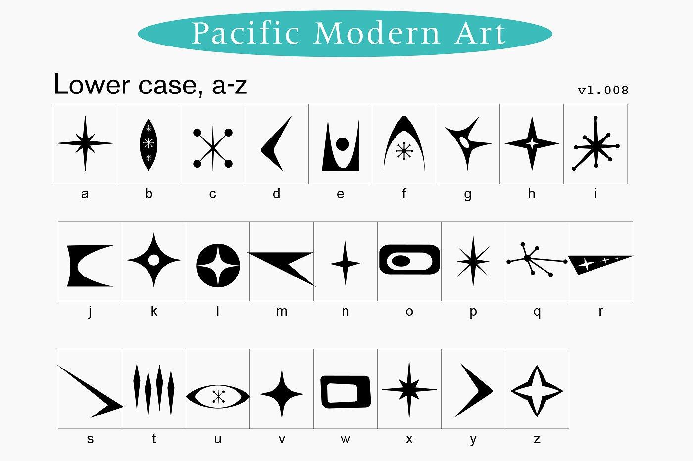 Pacific Modern Art Font