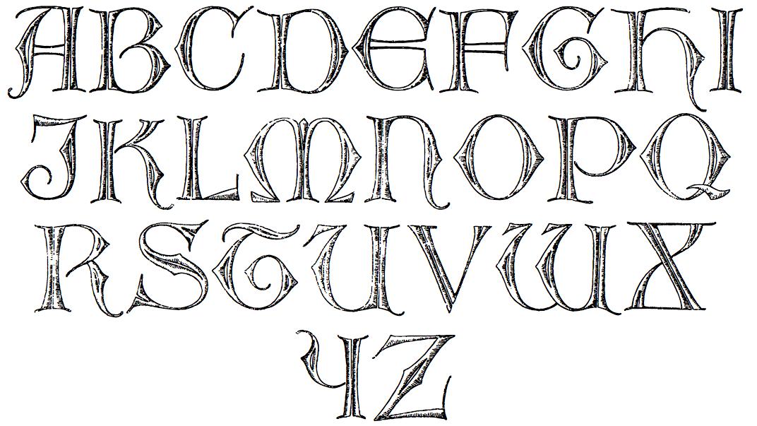Celtic Alphabet Stencils Pape s s w celtic antiqua