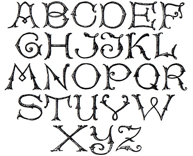Alphabet SSWRoundPrinting SSWRusticAlphabet SSWRusticScript