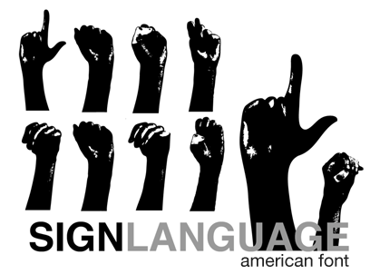 asl sign for thesis