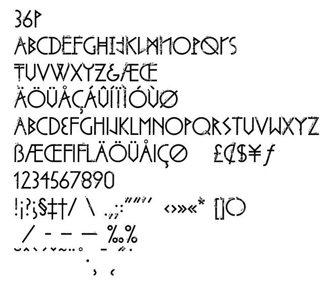 Latvian type design