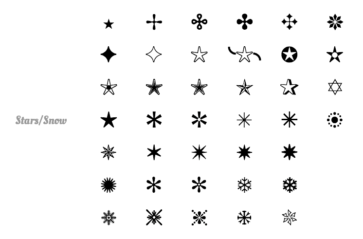 Text Symbols Stars Choice Image Meaning Of Text Symbols