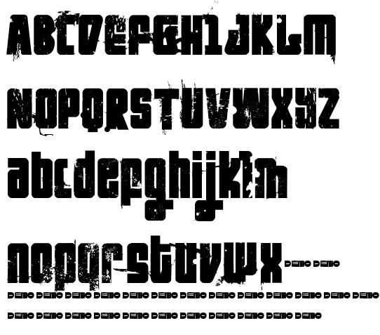 chunky hunk western diy typeface kitchen tile style futuretro stencil like 3thehardwayoverrun pedant dilettante ft rosecube ft blockbuster