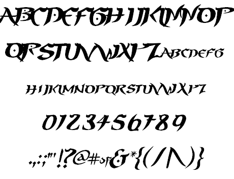 prince of persia font