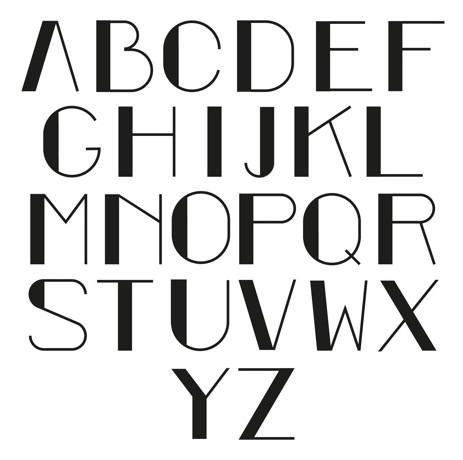 Artdecotypeface Education Alphabet Pinterest