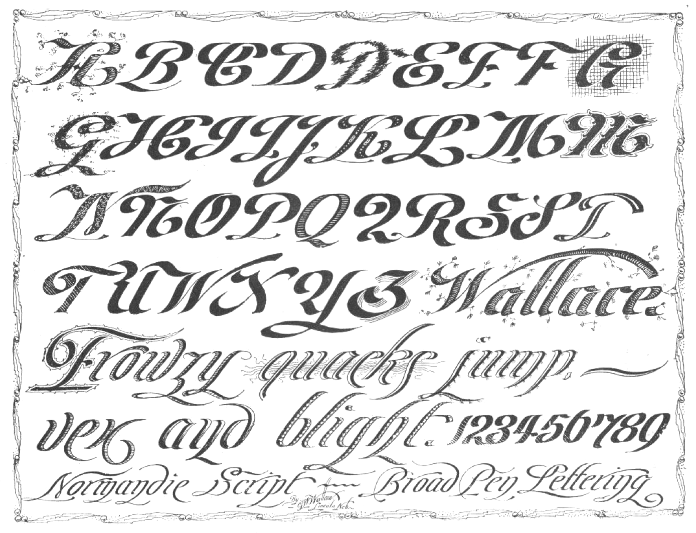 Portfolio Of Ornate Penmanship