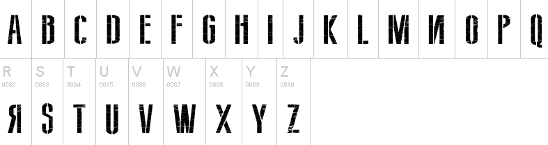 army fonts