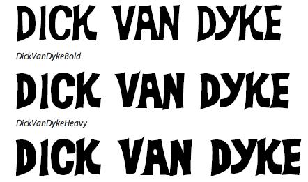 Dick van dyke font — img 10