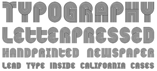 1980s font style
