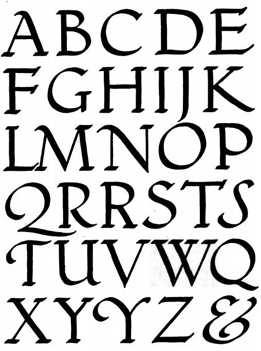 Pin calligraphy alphabet roman genuardis portal on pinterest