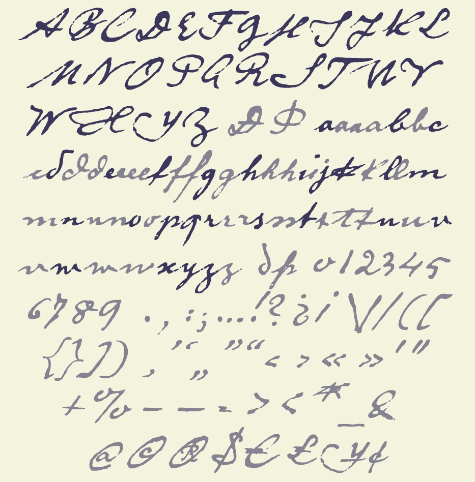 1800s Handwriting Font on Latest Best Writing Pen