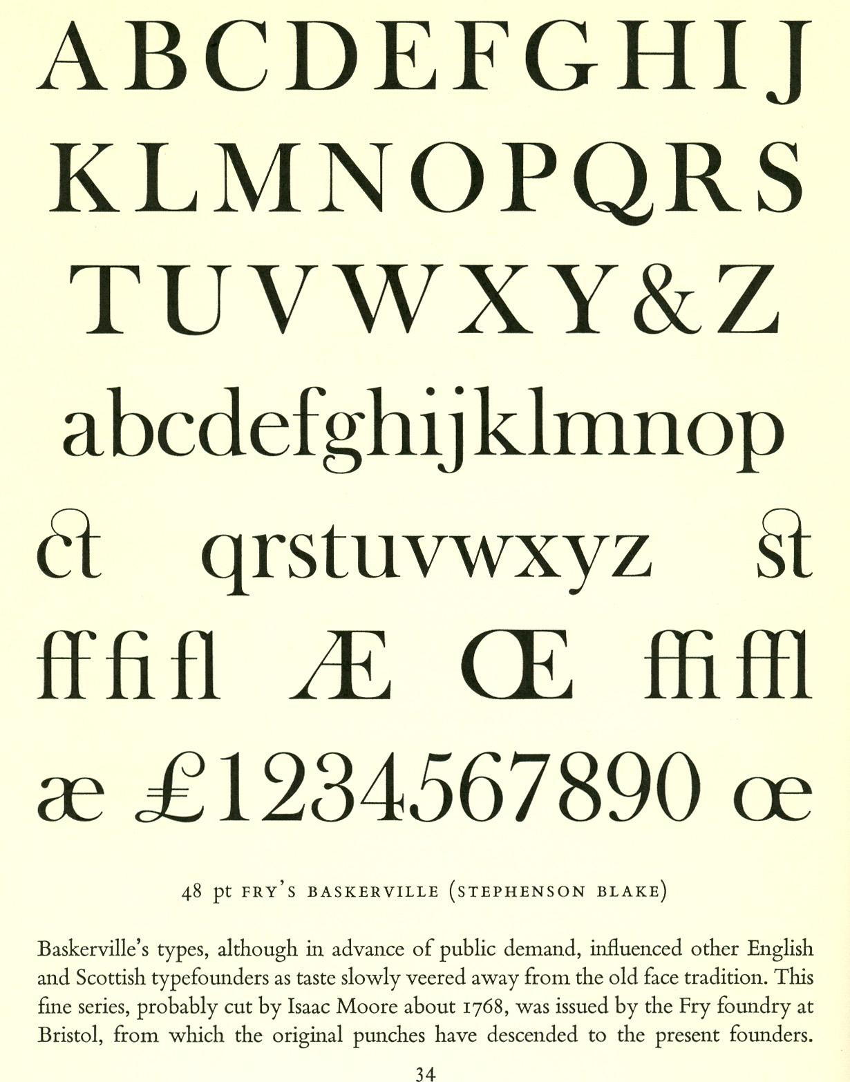 Baskerville typeface the image kid has it Baskerville