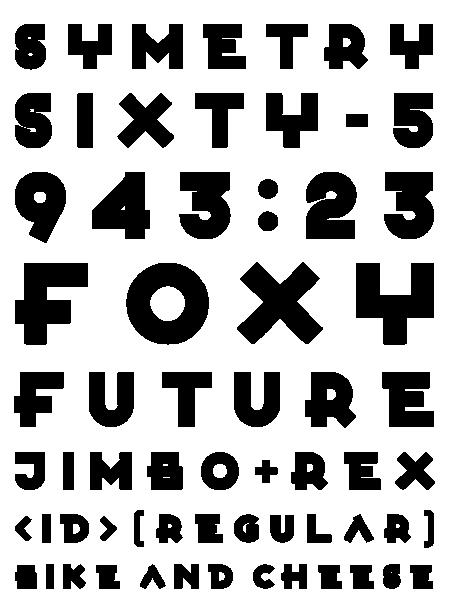 Triangulated Typefaces