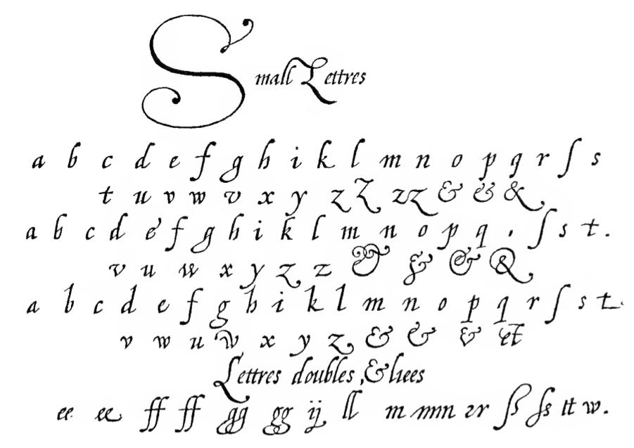 type de lettre Jean de Beauchesne type de lettre