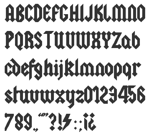 A Blackletter Tattoo Typeface Based On The AC DC Logo Code 2011 Pixel Font Used In Command Prompt Bonzarificx Spore