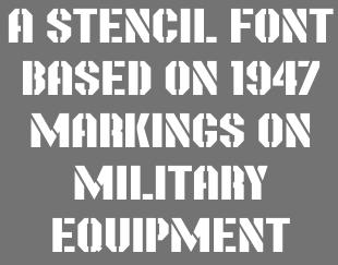 Steamer Font Stencils Spray Paint
