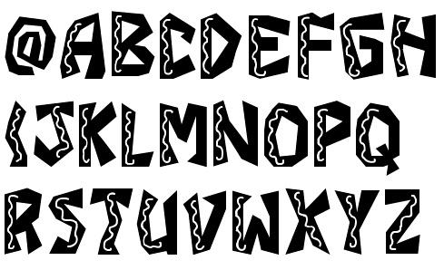 latin style font - photo #1